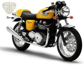 2005 Triumph Thruxton in Racing Yellow and Silver