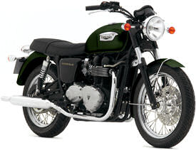 2007 Goodwood Green Triumph Bonneville