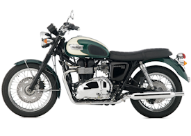 2008 Triumph Bonneville T100 in Jet Black & Tornado Red