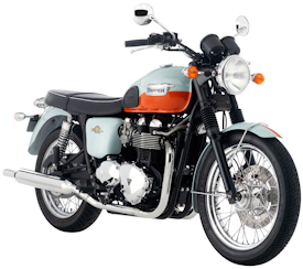 2009 Meriden Blue/Exotic Orange Triumph T100 50th Anniversary Edition