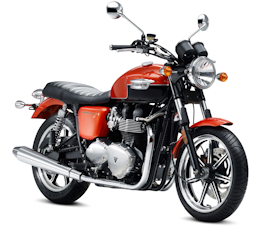 2011 Intense Orange/Phantom Black Triumph Bonneville SE