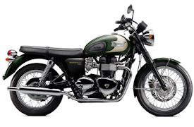 2011 Triumph Bonneville T100 in Forest Green/New England White