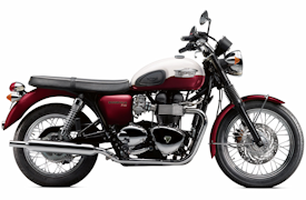 2012 Triumph Bonneville T100 in Cranberry Red/New England White